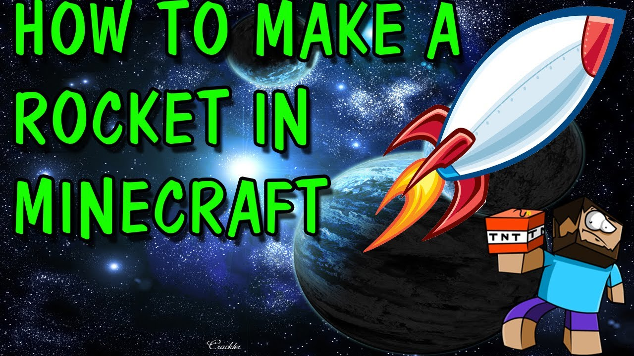 how to build a rocket in minecraft step by step