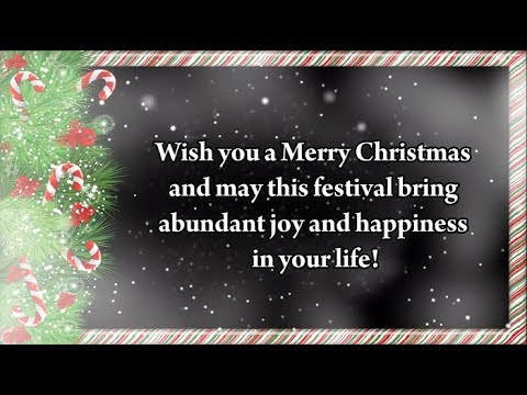 Christmas Greeting Card Christmas Card Messages For Friends Youtube