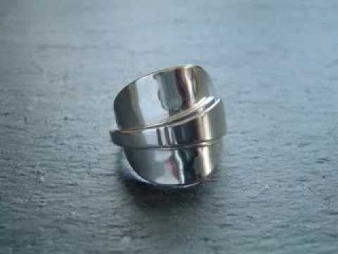 Wow silver spoon rings by Jaspersparkle