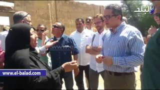 بالصور والفيديو ..وزير الآثار يتفقد معبد الطود بالأقصر
