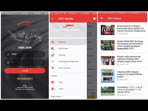 Tutorial Pengunaan ERCI Mobile. Community News, Membership Management, GPS Tracking