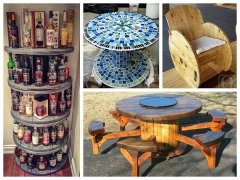 recycled-cable-spool-ideas---diy-furniture-ideas-from-wooden-wire-cable-spools