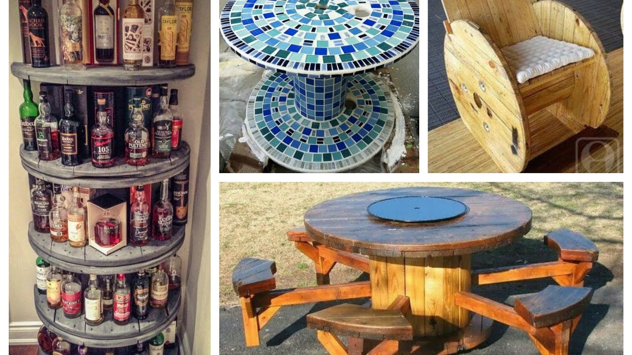Recycled Cable Spool Ideas DIY Furniture From