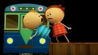 Аркадий Паровозов спешит на помощь - Почему нельзя стоять на краю платформы - мультфильм детям.