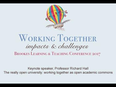 Bltc17 keynote talk from Professor Richard Hall