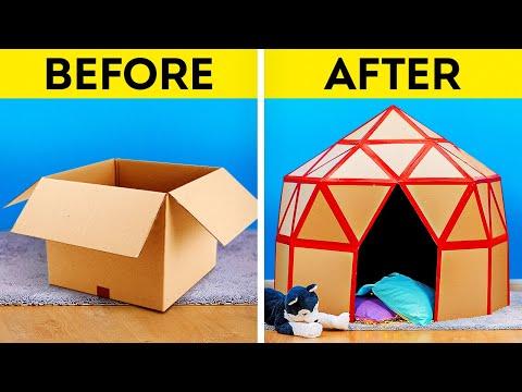 15 DIY CARDBOARD CRAFTS    Easy Upgrade Hacks and Plastic Recycle Ideas
