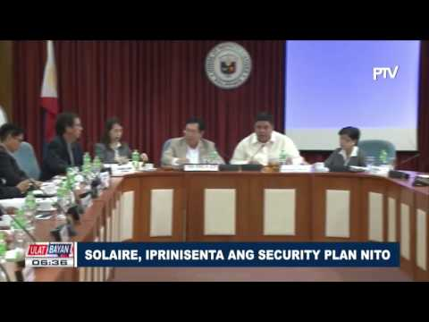 Solaire, iprinisenta ang security plan nito