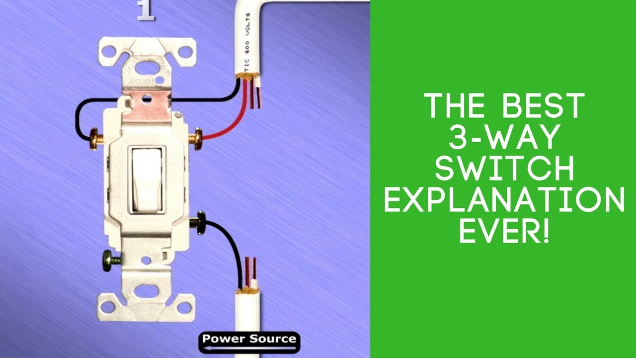 the best 3 way switch explanation ever  [ 1280 x 720 Pixel ]