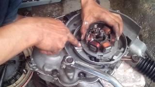 cara pasang spul magnet Vespa