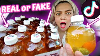 TikTok Viral APPLE JUICE BITING Trend! Does it actually sound like an apple?