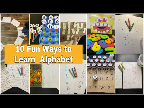 10 Fun Ways To Learn Alphabet | Alphabet Activities | Learning Alphabet for Toddlers