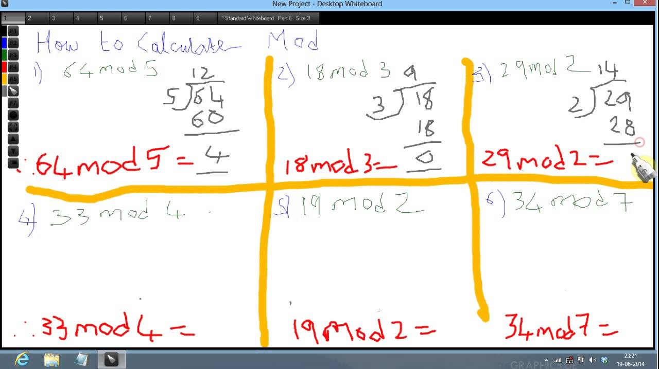 How To Calculate Mod Youtube