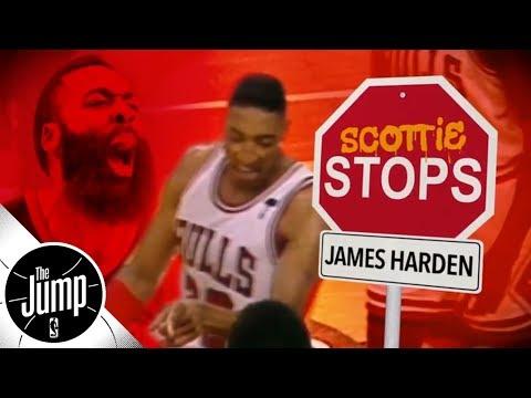 Scottie Pippen explains how to stop James Harden | The Jump | ESPN