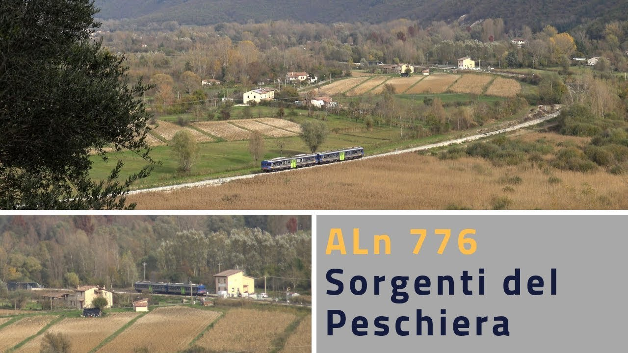 Sorgenti Del Peschiera.Aln 776 Arriving And Leaving The Stop Of Sorgenti Del Peschiera