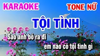 Tộ Tình | Karaoke | Nhạc Sống Tone Nữ | Karaoke Thanh Hải