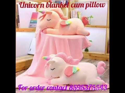 unicorn blanket cum pillow youtube