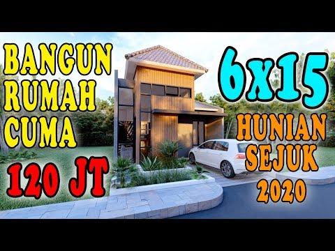 DESAIN RUMAH 6X15 HUNIAN SEHAT DAN HEMAT BIAYA 2020, DESIGN BY ORLEANS STUDIO