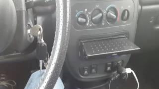 Boss Single DIN Motorized Reverse Display