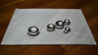 Как нарисовать Реалистичный 3D Рисунок  Иллюзия простым карандашом