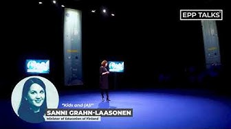 EPP Talks Helsinki - Sanni Grahn-Laasonen - Episode 1 - Kids and (A)I