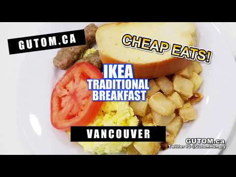 CHEAP EATS! IKEA 3 DOLLAR BREAKFAST | Vancouver Food Guide Reviews - Gutom.ca