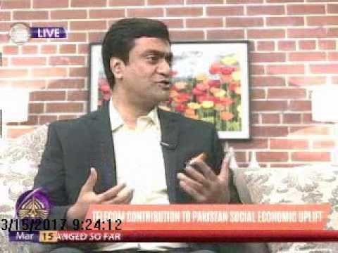 "Irfan Wahab, CEO, Telenor Pakistan on PTV World's morning show ""World This Morning"""