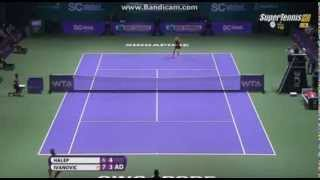 Download Ana Ivanovic - Simona Halep funny point ( WTA Finals) MP3 song and Music Video