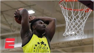 Zion Williamson's contest-winning dunks from the Powerade Jam Fest | ESPN
