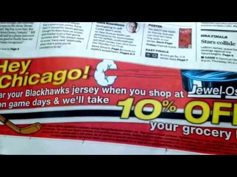 Jewel Osco offers one day discount for Blackhawk jersey wearing shoppers. Spouses Selling Houses