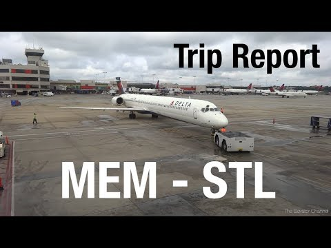 TRIP REPORT - Delta (MD-88, MD-90), Memphis to St Louis