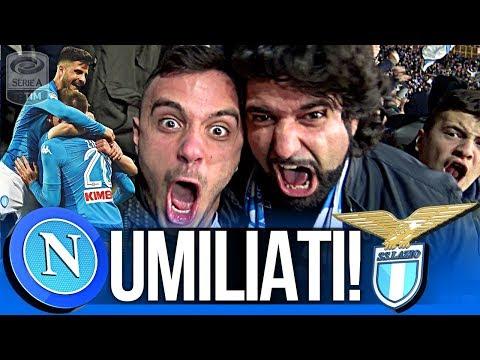 NAPOLI 4-1 LAZIO | UMILIATI!!! LIVE REACTION GOL CURVA B HD