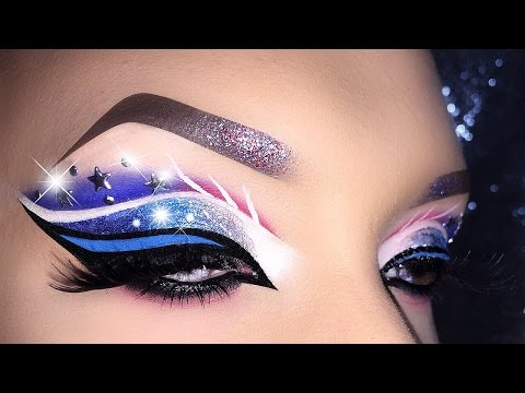 4th of July - USA Flag inspired Cut Crease Makeup Tutorial
