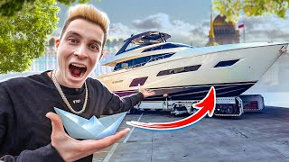 Trading a PAPER SHIP for a REAL YACHT in 48 HOURS !