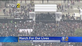 Hundreds Of Thousands Protest Gun Violence In Downtown LA