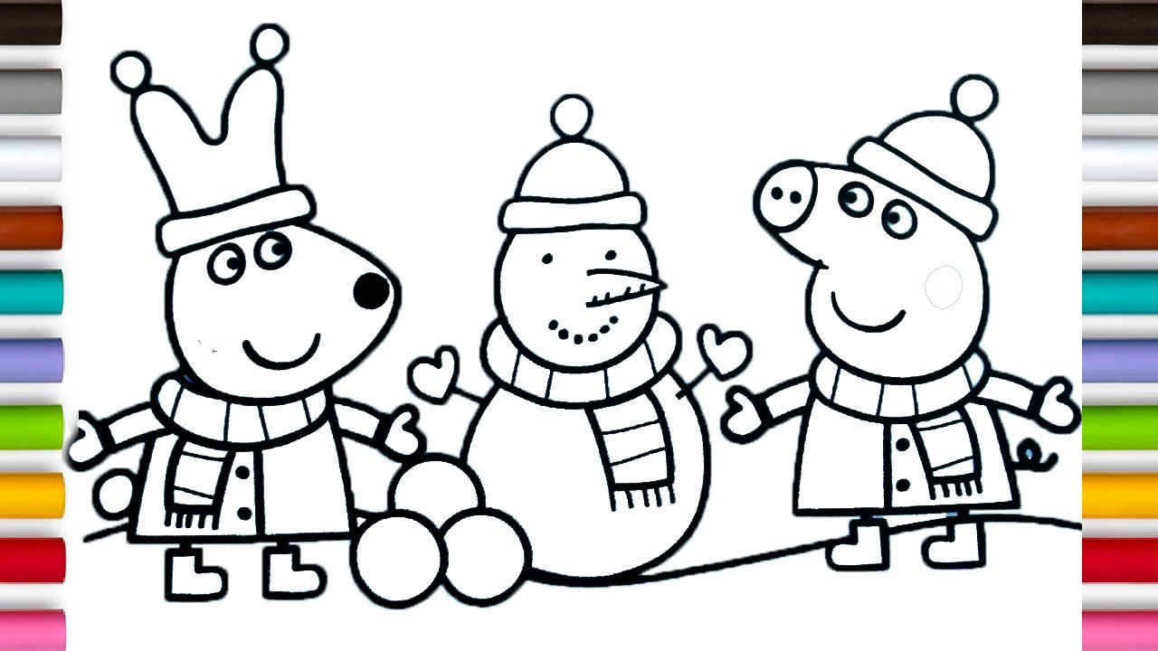 Coloring Book Pages PEPPA PIG Kids Fun Art Activities