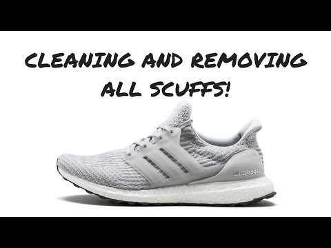HOW TO REMOVE CAGE SCUFFS AND CLEAN BOOST!!!! ULTRABOOST 3.0 CREP/RESHOEVN8R CLEANING!!!