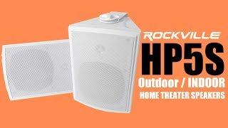 The Rockville HP5S  Water Resistant  indoor / outdoor Speaker (DEMO + REVIEW)