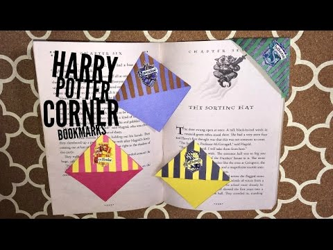 Diy harry potter corner bookmarks youtube diy harry potter corner bookmarks solutioingenieria Images