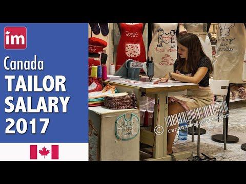 Tailor Salary In Canada (2017) - Jobs In Canada