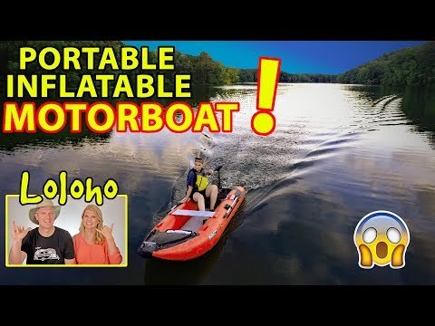 Our Scout365 Portable Inflatable Boat -- NOW WITH MOTOR!!!