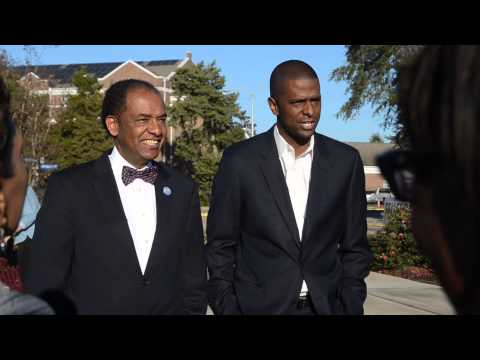 Dr. Cleveland Sellers and Rep. Bakari Sellers at S.C. State