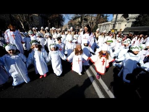 Georgians parade in the capital to mark Orthodox Christmas