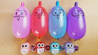 Making Slime With Funny Balloons With Glitter And Lip Balm - Satisfying slime video