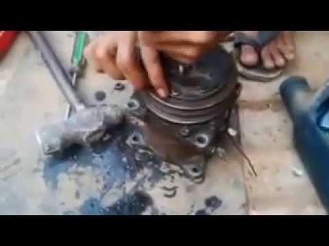 Cara Bongkar Kompresor Ac Sanden How To Diaassembly Ac Compressor