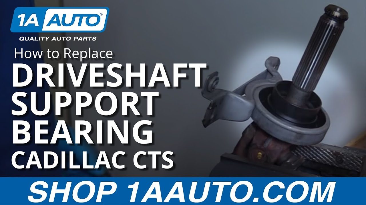 How To Relace Install Driveshaft Center Support Bearing 2003 08 1960 Vw Bus Fuse Box Cadillac Cts