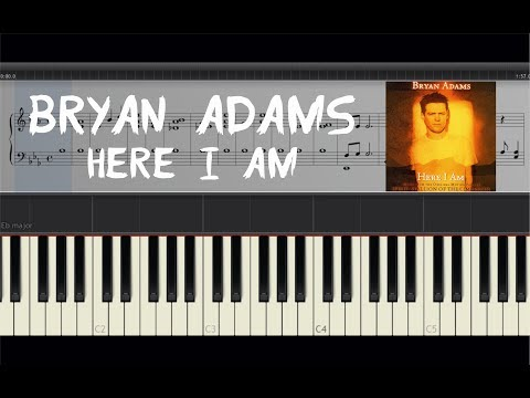 Bryan Adams - Here I Am - Piano Tutorial by Amadeus (Synthesia) [Sheets]