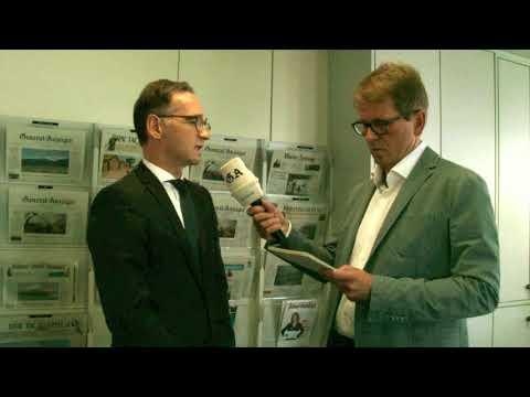 Bundesjustizminister Heiko Maas im Interview beim General-Anzeiger in Bonn