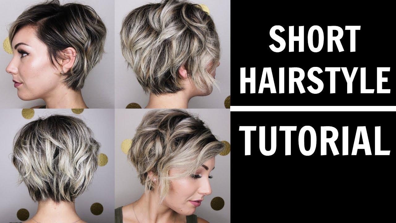 Short Hairstyling Tutorial Chloe Brown Youtube
