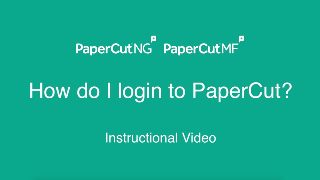 PaperCut KB | Logging into the User Web Tools as an Admin doesn't