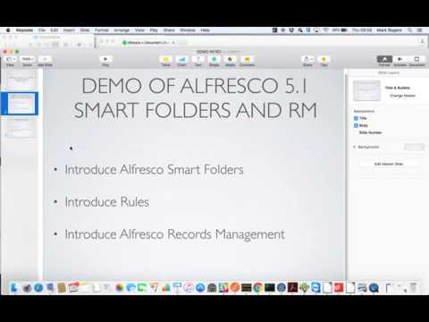 Smart Folders and Records Management in Alfresco 5.1:  Demo